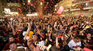 Cavs Win crowd